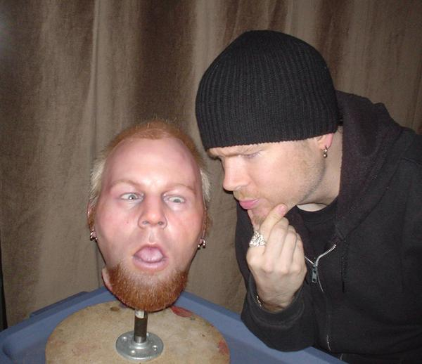 Ben Moodys severed movie-prop head. - Photo of Ben MoodyBen Moody