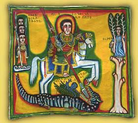 Ethiopian Icon St. George in Ethiopian Art by Ragna Rocking Time