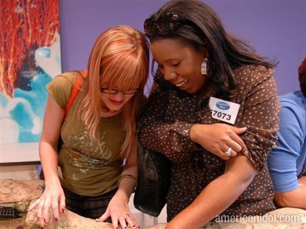 Melinda and I are touching the fish. in American Idol by 
