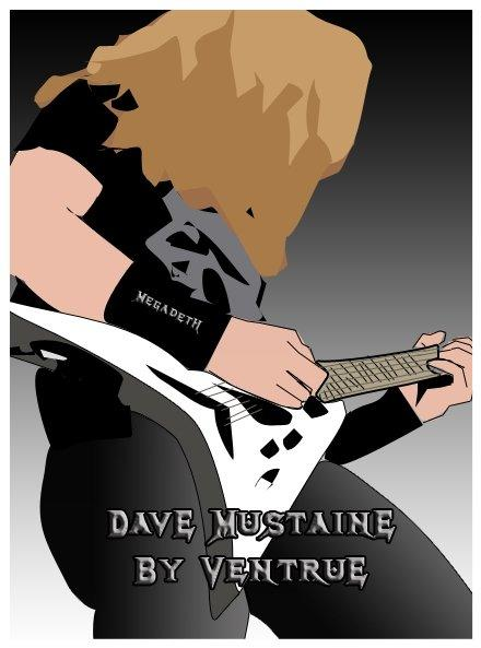 Dave Mustaine (Megadeth/Ex-Metallica) in My art by Cesar Antonio