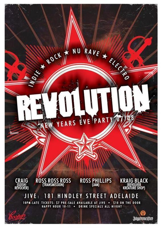 Revolution flyer for NYE 2007/2008 in My Photos by