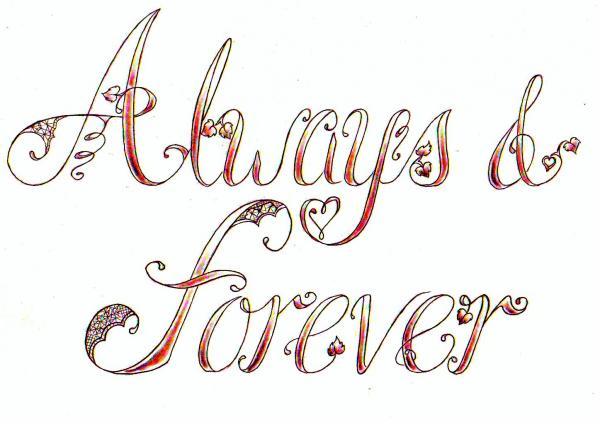 always amp forever tattoo design by denise a wells in tattoo designs. Black Bedroom Furniture Sets. Home Design Ideas