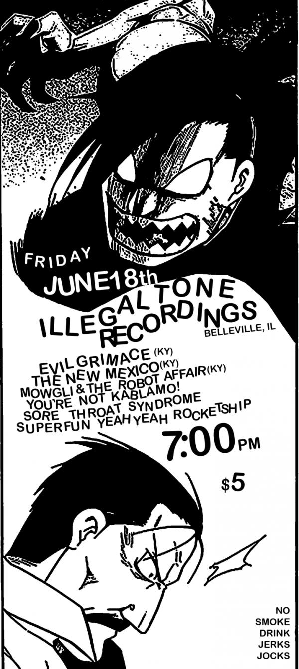 Illegal Tone Recording Flyers by 