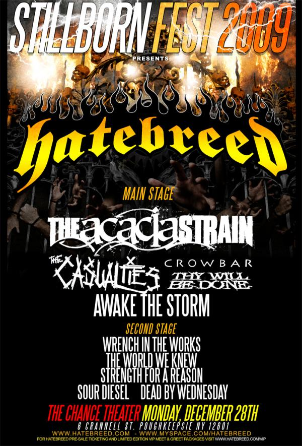 Hatebreed returns to Poughkeepsie in Upcoming 2009 shows by