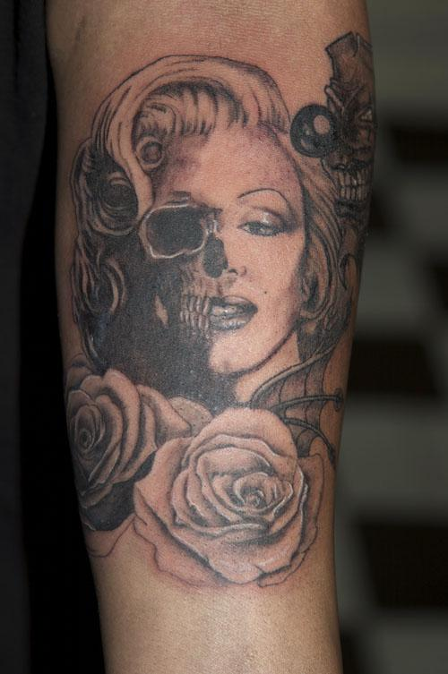 One good thing about nautical star tats is that they are for Marilyn monroe skull tattoos