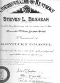 Kentucky Colonel William S. Tribell