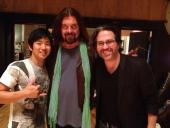 In the studio Jake Shimabukuro, Alan Parsons and me