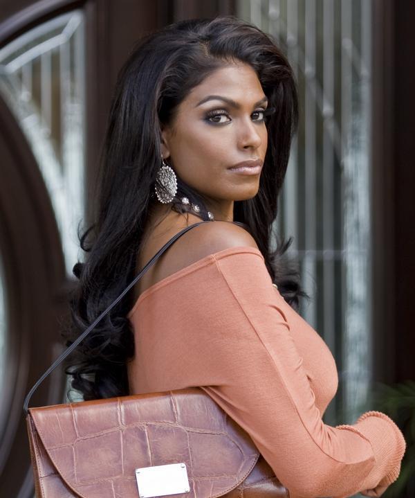 Beautiful dark skin indian women