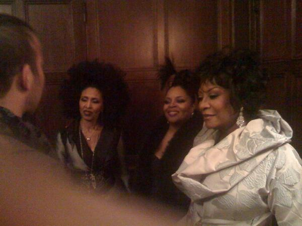 Nona, Sarah & Patti greet a visitor. in Labelle Reunion Gotham Hall NYC '08 by