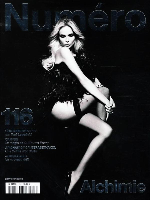 Numéro #116 September 2010: Natasha Poly by Karl Lagerfeld in covers by