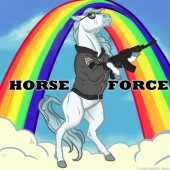Photo of horse force